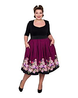 Scarlett & Jo Border Floral 2-in-1 Dress