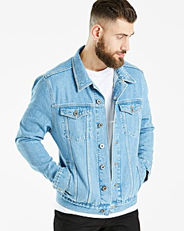 Jacamo 90s Wash Denim Jacket Regular
