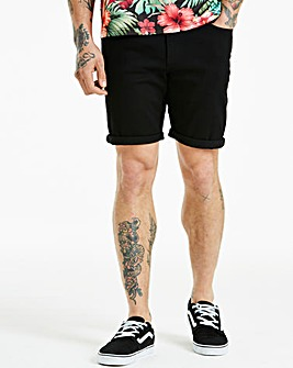 Jacamo Black Denim Shorts