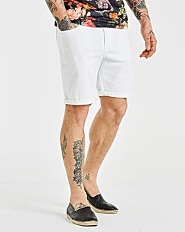 Jacamo White Denim Shorts