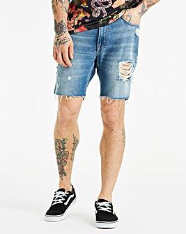 Jacamo Rip & Repair Denim Shorts