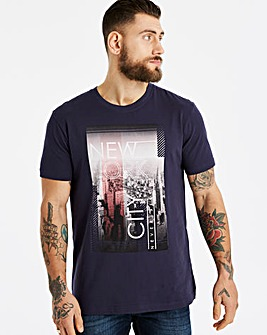 Jacamo NYC Print T-Shirt Long