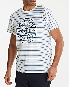 Jacamo West Point Stripe T-Shirt Long
