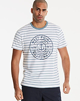 Jacamo West Point Stripe T-Shirt Regular