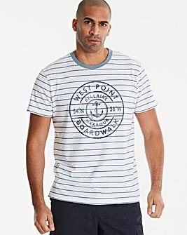 Jacamo West Point Stripe T-Shirt Long