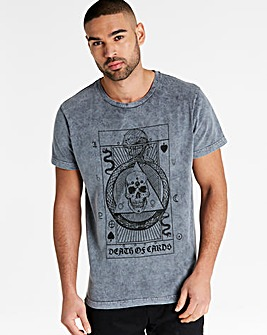 Jacamo Carded Acid Wash T-Shirt Long