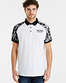 Jacamo Raglan Sleeve Polo Long
