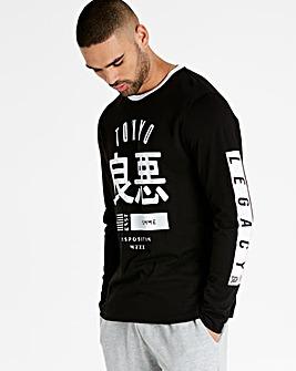 Jacamo Tokyo Long Sleeve T-Shirt Regular