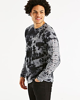 Jacamo Tie Dye L/S T-Shirt Regular