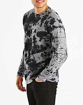 Jacamo Tie Dye L/S T-Shirt Regular