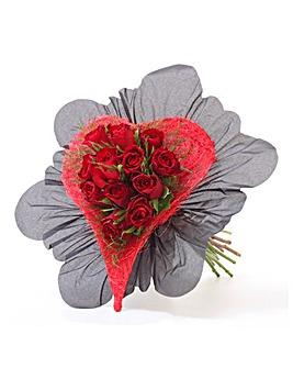 Heart Rose Posy
