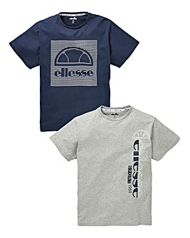 Ellesse Pack of Two T-Shirts Long