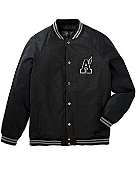 Label J Letterman Jacket Long