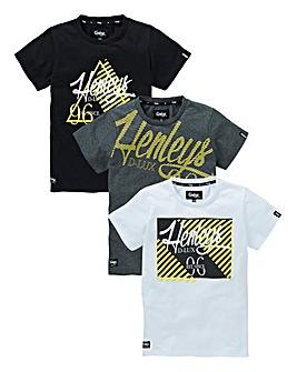 Henleys Boys Pack of Three T-Shirts