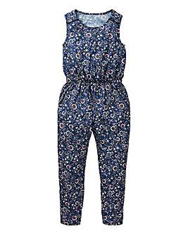 Girls Floral Print Jumpsuit