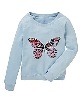 Girls Butterfly Sweatshirt