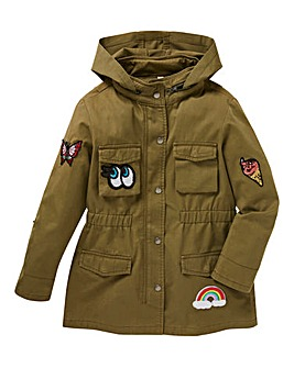 Girls Badge Parka Jacket