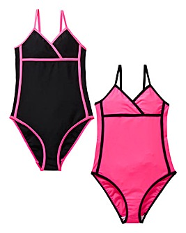 Girls Pack of Two Swimsuits