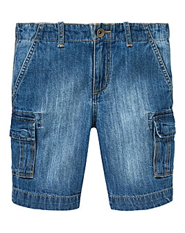 Boys Denim Cargo Shorts