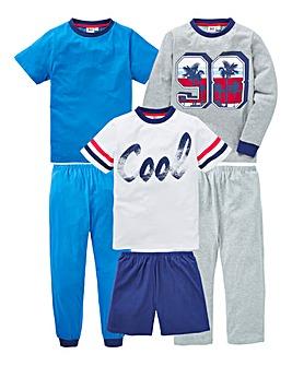 KD Boys Pack of Three Pyjamas