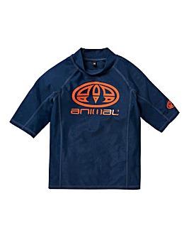 Animal Hiltern Short Sleeve Rash Vest