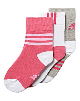 adidas Infant Girls Pack Of three Socks