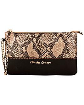 Claudia Canova Small Snake Effect Zip