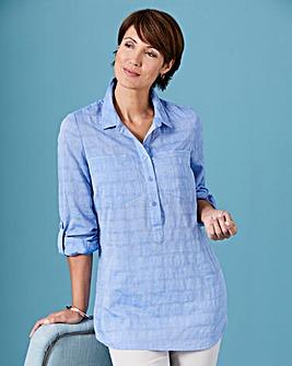 Stripe Printed Chambray Shirt