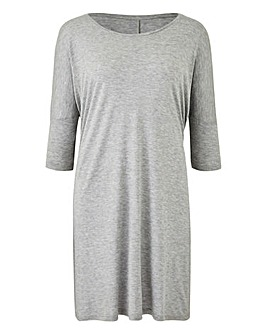 Grey Marl Oversized Boxy Top