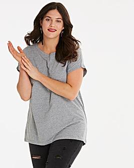 Grey Marl Boyfriend T-Shirt