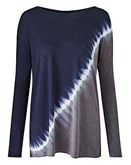 Diagonal Tie Dye Top