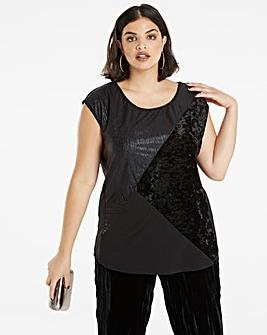 Textured Velvet T-shirt