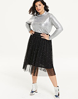 Metallic Rollneck Top