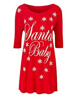 Santa Baby Slogan Boxy Top