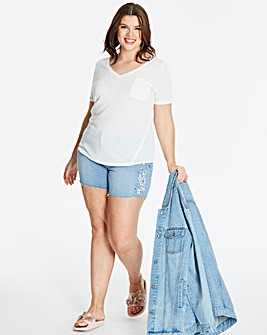 White Linen Blend T-shirt