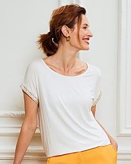 Embellished Sleeve Top