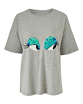 Sequin Eyes T-Shirt