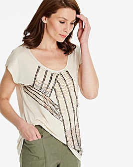 Embellished Cut Out Back Top