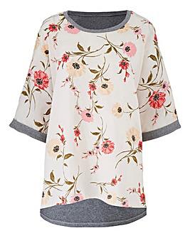 Woven Front T-shirt