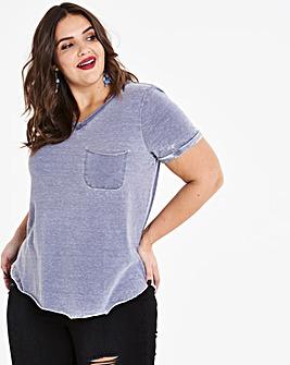 Sheer Tissue Jersey Pocket T-shirt