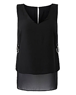 Black Longline Blouse