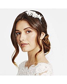 Alan Hannah Silk Flower Crystal Headband