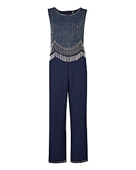 Joanna Hope Petite Bead Trim Jumpsuit