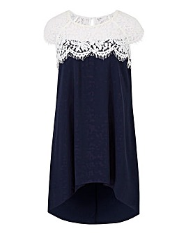 Joanna Hope Petite Lace Trim Tunic