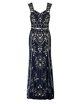Joanna Hope Petite Beaded Maxi Dress