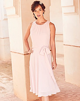 Joanna Hope Blush Chiffon Dress
