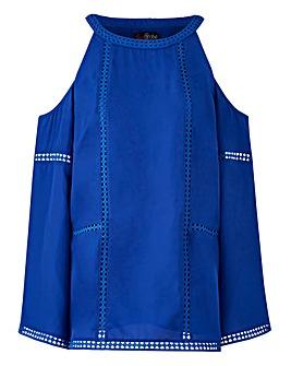 Lovedrobe Cold Shoulder Bell Sleeved Top