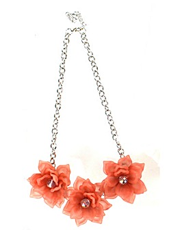 Lizzie Lee Acrylic 3 Flower Necklace
