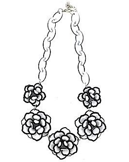 Lizzie Lee Acrylic Flower Necklace
