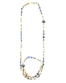 Lizzie Lee Long Facet Bead Necklace